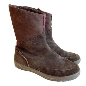 KEDS Suede Lined Brown Ankle Boots Pink 8 Booties